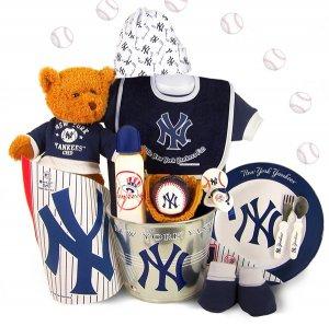 New York Yankees Baby Spring Training Starter Kit Gift Set Basket