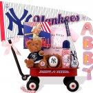 New York Yankees Baby Girl Radio Flyer Wagon Gift Assort.