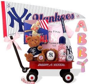New York Yankees Baby Girl Radio Flyer Wagon Gift Assort.