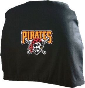 Pittsburgh Pirates Auto Car Head Rest Covers Set Gift