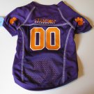 Clemson University Tigers Pet Dog Football Jersey Large