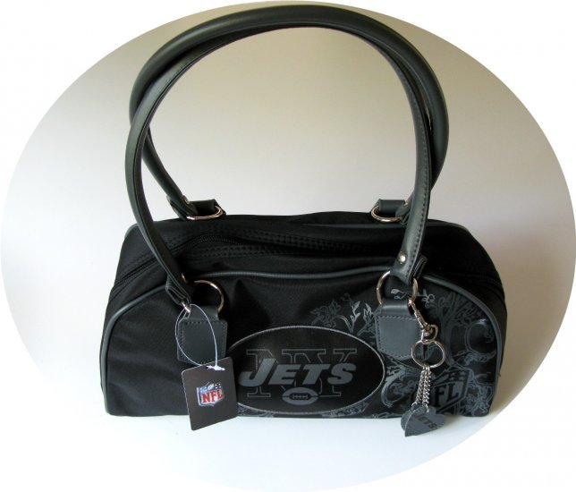 New York Jets Caprice Bowler Style Purse Handbag