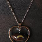 San Diego Chargers Necklace w/ Football in Heart Charm Cute