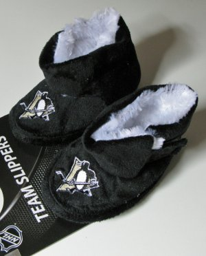Pittsburgh Penguins Fuzzy Baby High Boot Slippers 3-6 Months