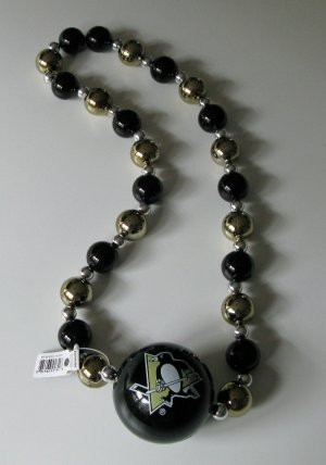 Pittsburgh Penguins Big Beads Necklace w/ Big Team Logo Ball