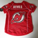 New Jersey Devils Pet Dog Hockey Jersey Large