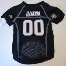 Illinois University Fighting Illini Pet Dog Football Jersey Small