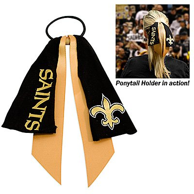 New Orleans Saints Ponytail Holder Hair Tie Ribbon Cute
