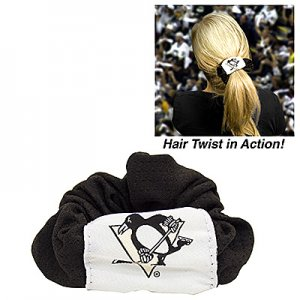 Pittsburgh Penguins Littlearth Hockey Jersey Hair Twist Scrunchie Cute