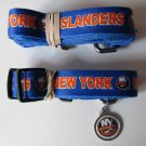 New York Islanders Pet Dog Leash Set Collar ID Tag Size Large