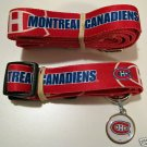Montreal Canadiens Pet Dog Leash Set Collar ID Tag Gift Size Small
