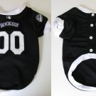 Colorado Rockies Pet Dog Baseball Jersey w/Buttons Small