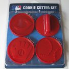 Cincinnati Reds Logo Glove Baseball Cookie Cutter Set