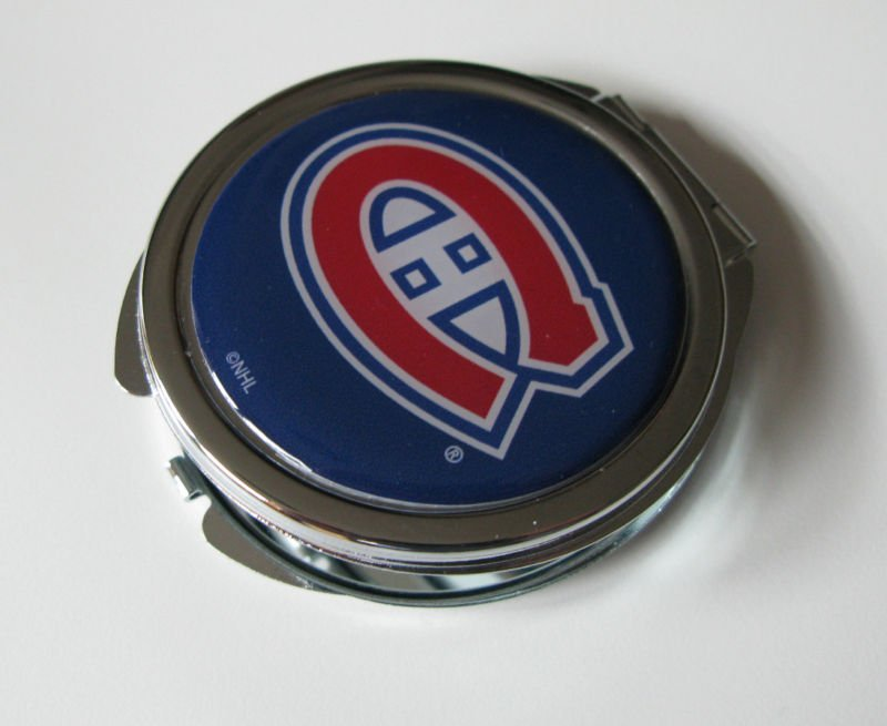 Montreal Canadiens Ladies Compact Mirror w/Floral Design