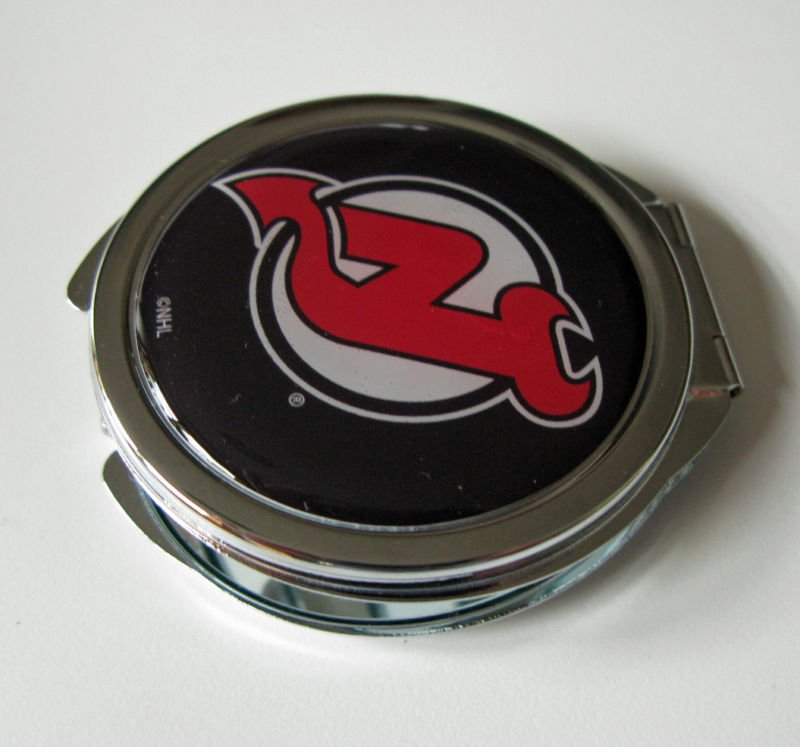 New Jersey Devils Ladies Compact Mirror w/Floral Design