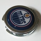 Edmonton Oilers Ladies Compact Mirror w/Floral Design