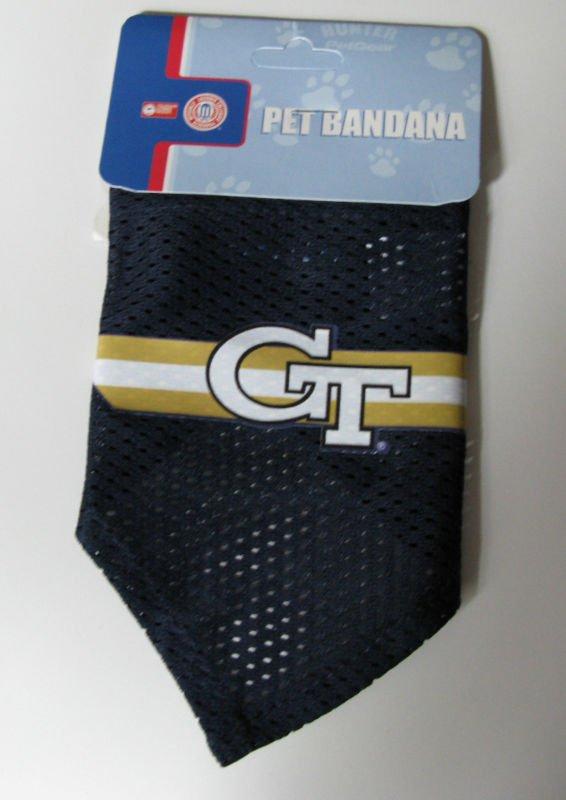 Georgia Tech Yellow Jackets Pet Dog Football Jersey Bandana S/M