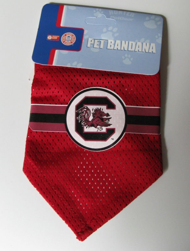 South Carolina University Gamecocks Pet Dog Football Jersey Bandana S/M