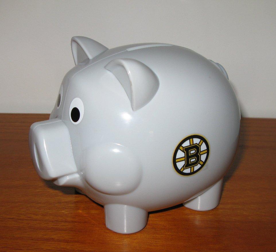 Boston Bruins Mini Musical Coin Piggy Bank