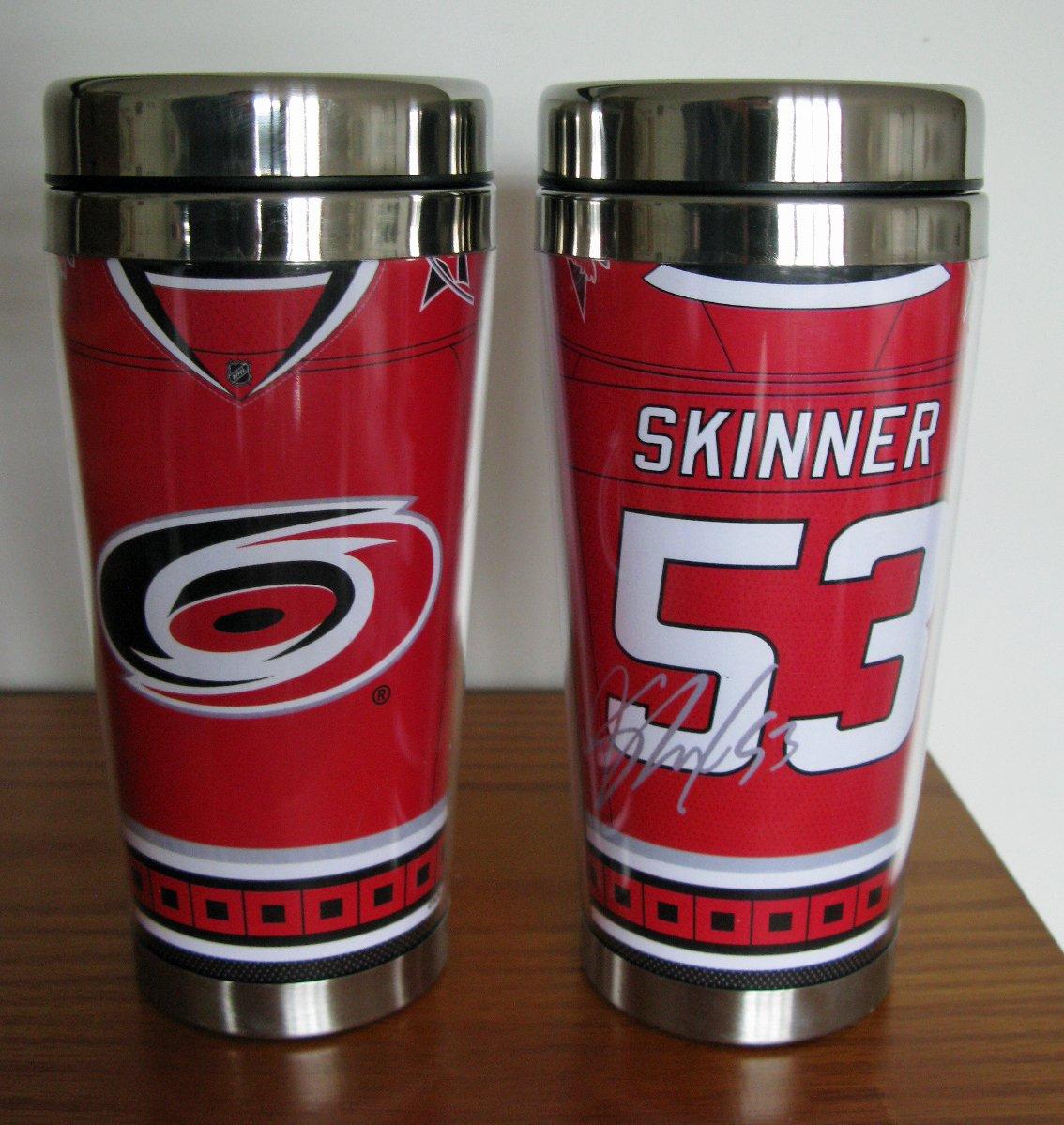 Jeff Skinner Carolina Hurricanes 16oz Travel Tumbler Mug