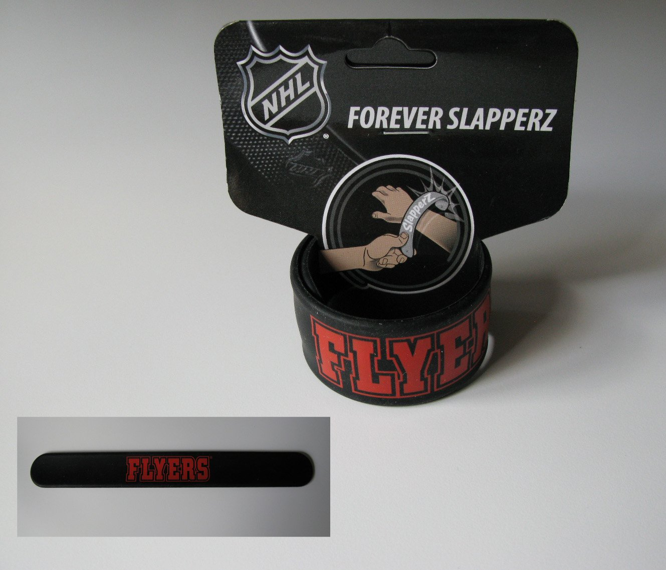 Philadelphia Flyers Rubber Puck Slapperz Band Bracelet