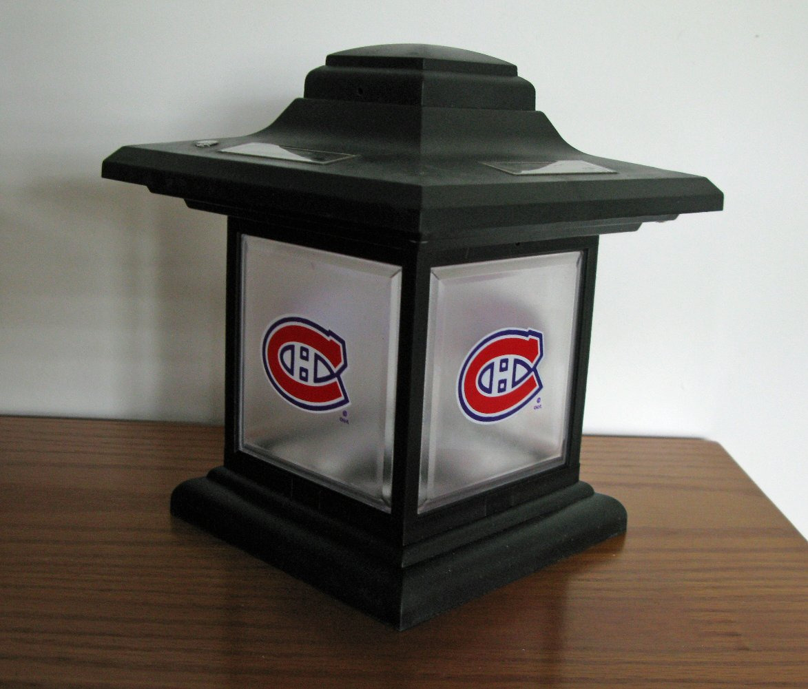 Montreal Canadiens Outdoor Solar Table Light Lamp