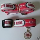 Cincinnati Reds Pet Dog Leash Set Collar ID Tag XS