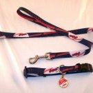 Cleveland Indians Pet Dog Leash Set Collar ID Tag XS