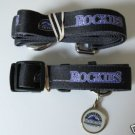 Colorado Rockies Pet Dog Leash Set Collar ID Tag XS