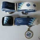 Tampa Bay Rays Pet Dog Leash Set Collar ID Tag XS