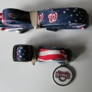 Washington Nationals Pet Dog Leash Set Collar ID Tag XS