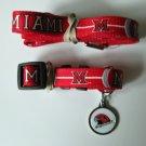 Miami of Ohio University Redhawks Pet Dog Leash Set Collar ID Tag XS