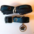 Jacksonville Jaguars Pet Dog Leash Set Collar ID Tag XS