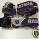 Oakland Raiders Pet Dog Leash Set Collar ID Tag XS