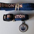 Edmonton Oilers Pet Dog Leash Set Collar ID Tag XS