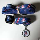 Arizona University Wildcats Pet Dog Leash Set Collar ID Tag XS