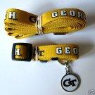 Georgia Tech Yellow Jackets Pet Dog Leash Set Collar ID Tag XS
