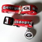 Georgia University Bulldogs Pet Dog Leash Set Collar ID Tag XS