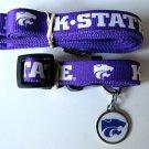Kansas State Wildcats Pet Dog Leash Set Collar ID Tag XS