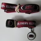 Southern Illinois Salukis Pet Dog Leash Set Collar ID Tag XS
