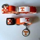 Tennessee University Volunteers Pet Dog Leash Set Collar ID Tag XS