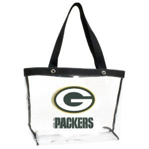 Green Bay Packers Large Clear See-All Tote Bag Purse