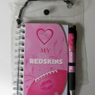 "Washington Redskins ""Love My"" Pink 4x6 Notebook and Pen Set"