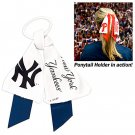 New York Yankees Littlearth Ponytail Holder Hair Tie Ribbon Cute