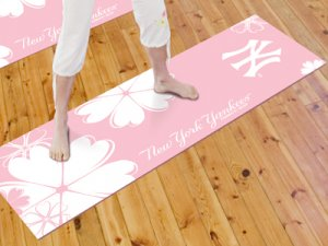 New York Yankees Pink Yoga Mat Cushion