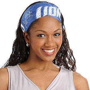 Detroit Lions Littlearth FanBand Football Jersey Headband Cute