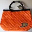 Anaheim Ducks Littlearth Quilted Tote Bag Purse
