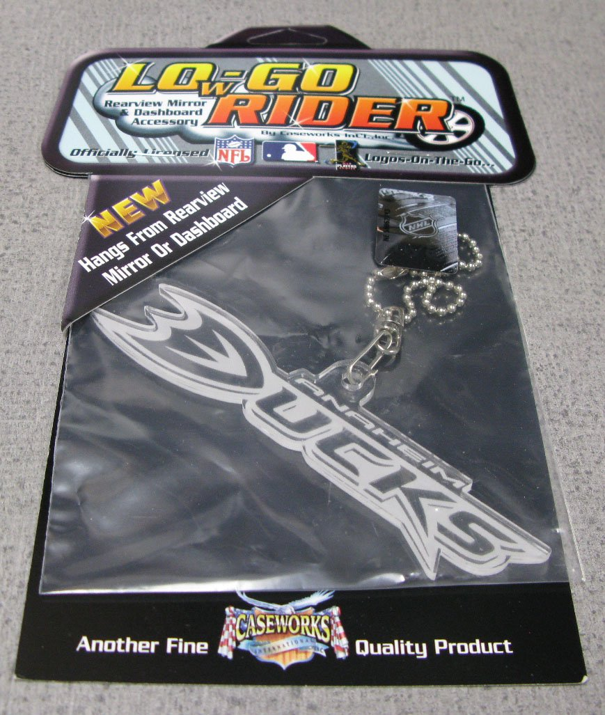 Anaheim Ducks Lowgo Hanging Acrylic Logo Car