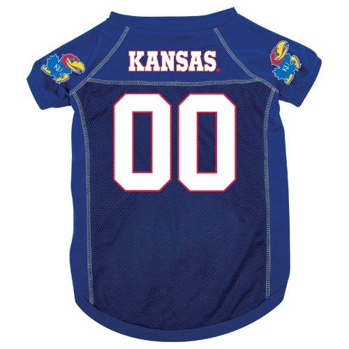 Kansas University Jayhawks Pet Dog Football Jersey Medium