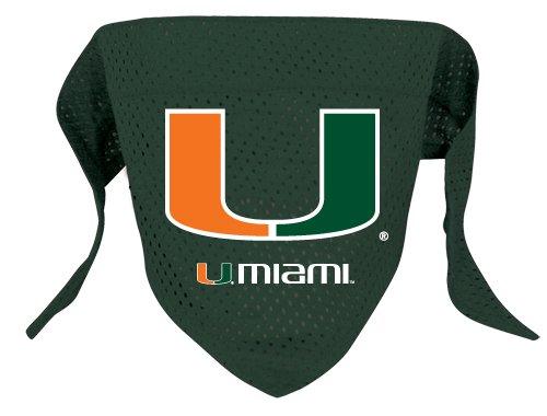 Miami University Hurricanes Pet Dog Football Jersey Bandana S/M